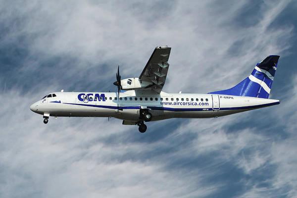 Wall Art - Photograph - Air Corsica Atr 72 by Smart Aviation