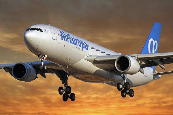 Wall Art - Photograph - Air Europa Airbus A330-202 2 by Smart Aviation