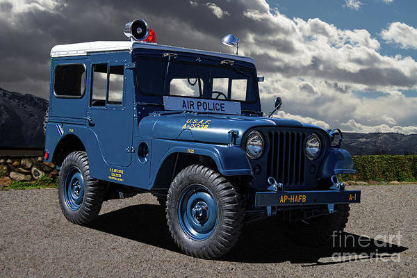 Wall Art - Photograph - Air Force Military Police Jeep by Nick Gray
