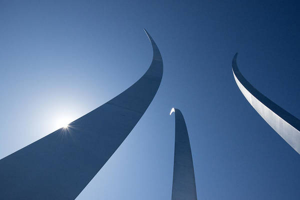 Photograph - Air Force Monument - Arlington Va by Paul W Faust - Impressions of Light