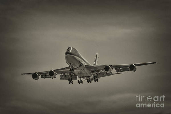 Photograph - Air Force One Sepia by Dale Powell