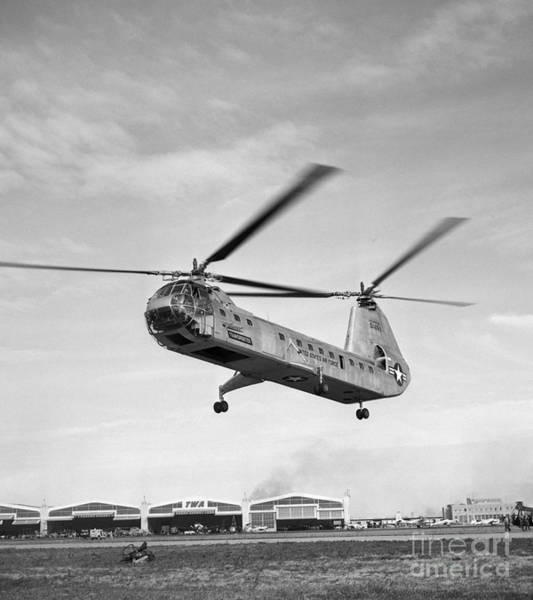 Photograph - Air Force Twin-rotor Helicopter by H. Armstrong Roberts/ClassicStock