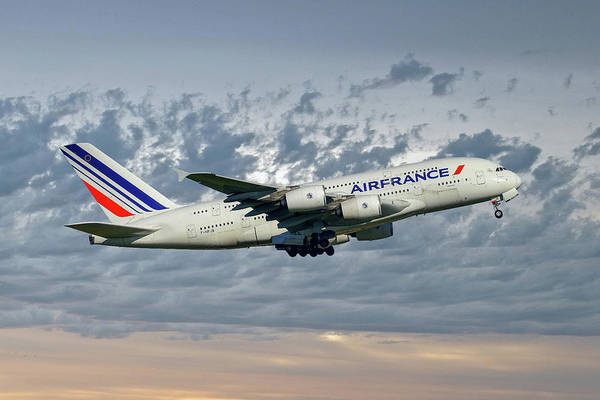 Airbus A380 Wall Art - Photograph - Air France Airbus A380-861 113 by Smart Aviation