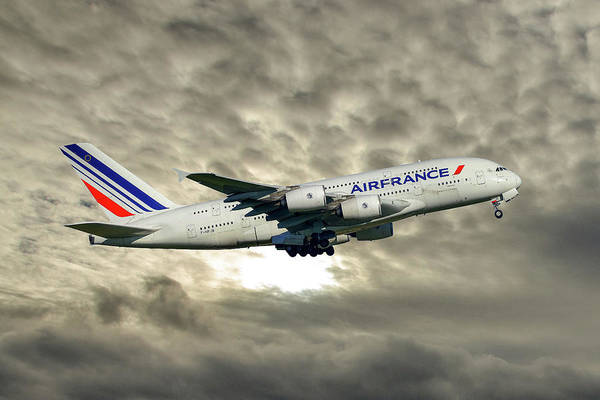 Airbus A380 Wall Art - Photograph - Air France Airbus A380-861 115 by Smart Aviation
