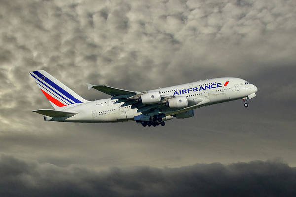 Airbus A380 Wall Art - Photograph - Air France Airbus A380-861 116 by Smart Aviation