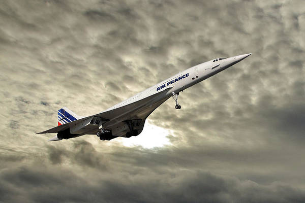 Wall Art - Photograph - Air France Concorde 115 by Smart Aviation