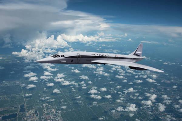 Delta Mixed Media - Air France Concorde Sst by Erik Simonsen