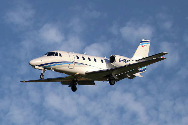 Wall Art - Photograph - Air Hamburg Cessna 560xl Citation Xls 1 by Smart Aviation