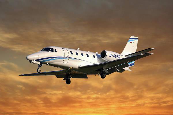 Wall Art - Photograph - Air Hamburg Cessna 560xl Citation Xls 2 by Smart Aviation