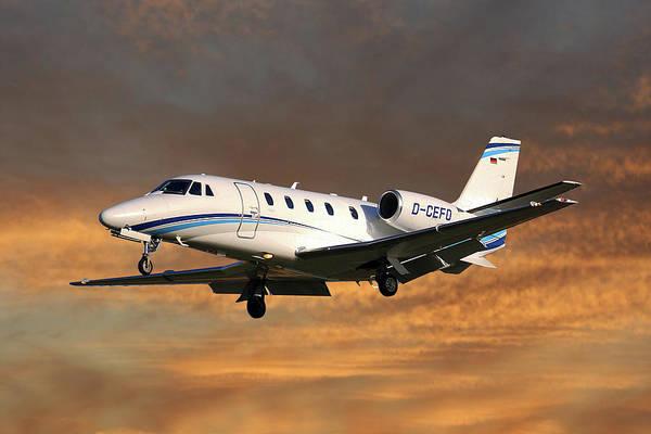 Wall Art - Photograph - Air Hamburg Cessna 560xl Citation Xls 3 by Smart Aviation