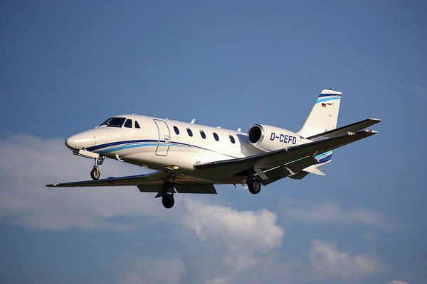 Wall Art - Photograph - Air Hamburg Cessna 560xl Citation Xls 4 by Smart Aviation