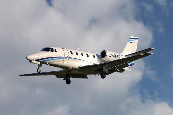 Wall Art - Photograph - Air Hamburg Cessna 560xl Citation Xls 5 by Smart Aviation