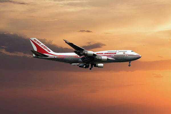Boeing 747 Wall Art - Photograph - Air India Boeing 747-437 by Smart Aviation