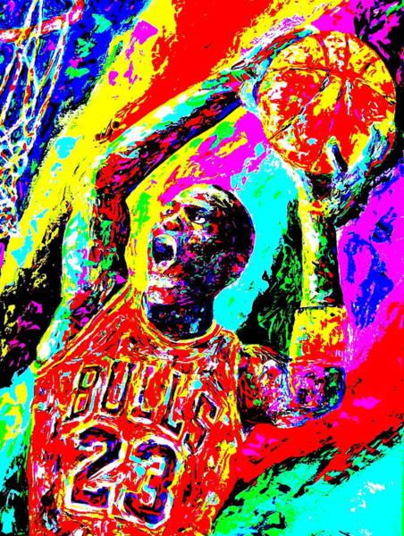 Hoops Painting - Air Jordan by Mike OBrien