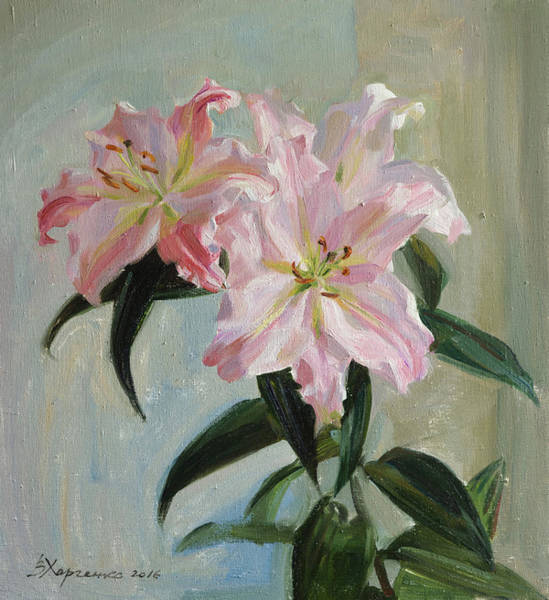 Wall Art - Painting - Air Lily by Victoria Kharchenko