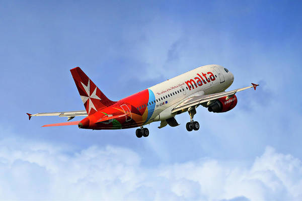 Airbus A319 Wall Art - Photograph - Air Malta Airbus A319-112 by Smart Aviation