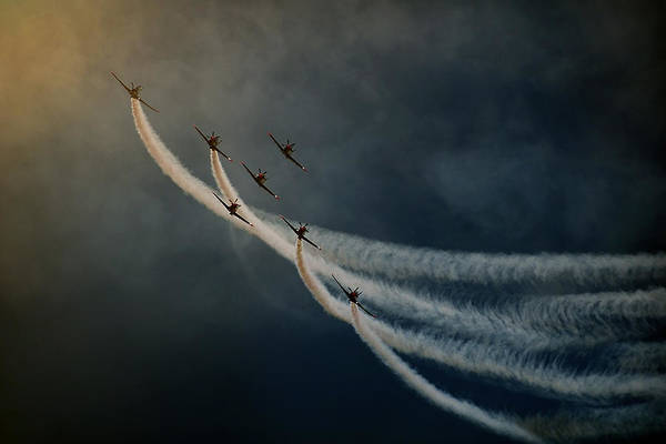 Aviation Photograph - Air Show. by Antonio Grambone
