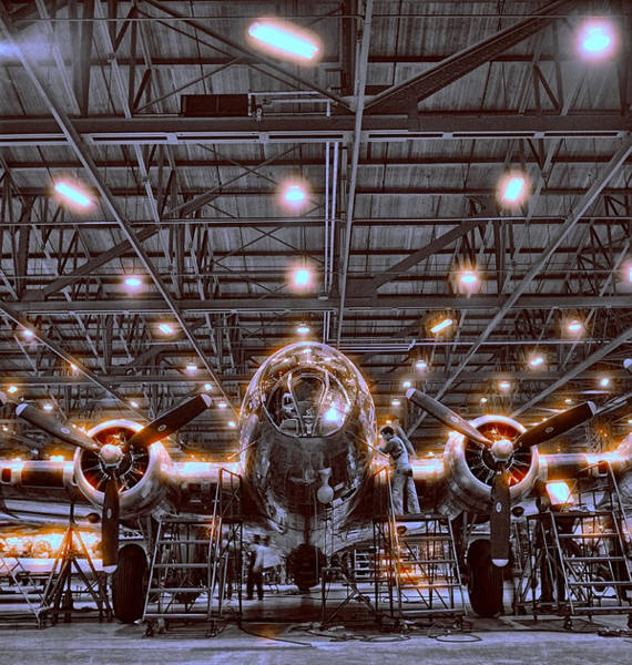 B-17 Bomber Photograph - Air Supremacy  W W I I by Daniel Hagerman