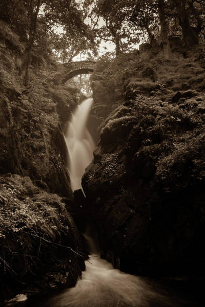 Aira Wall Art - Photograph - Aira Force - Sepia by Kathryn Bell