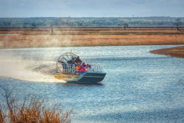 Airboat Photograph - Airboat Rides by John M Bailey