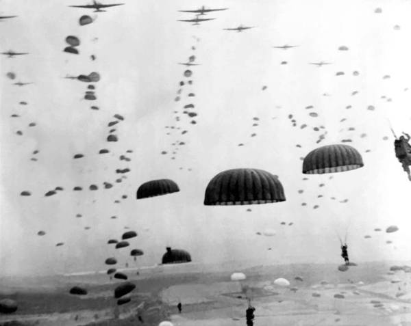 Landmark Photograph - Airborne Mission During Ww2  by War Is Hell Store