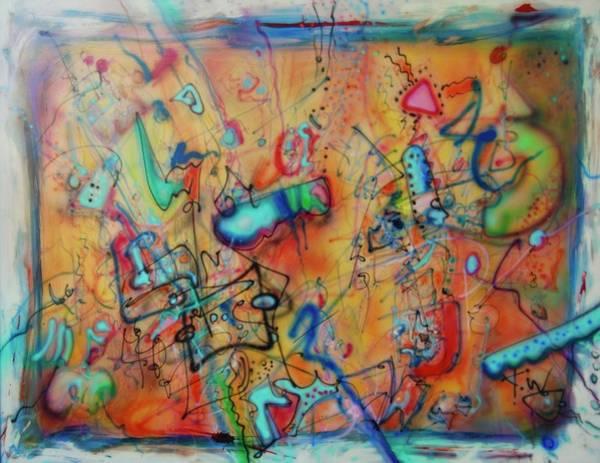 Digital Landscape, Airbrush 1 Art Print