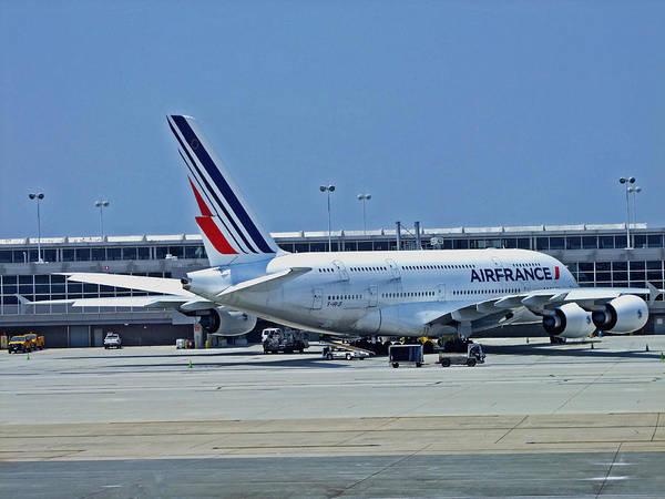 Airbus A380 Wall Art - Photograph - Airbus A380 Air France by Lamyl Hammoudi