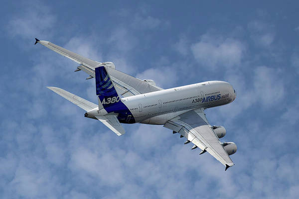 Wall Art - Photograph - Airbus International Airbus A380 by Smart Aviation