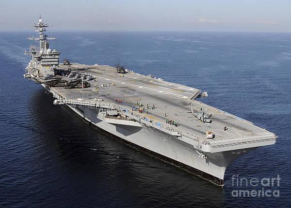 Uss Carl Vinson Photograph - Aircraft Carrier Uss Carl Vinson by Stocktrek Images