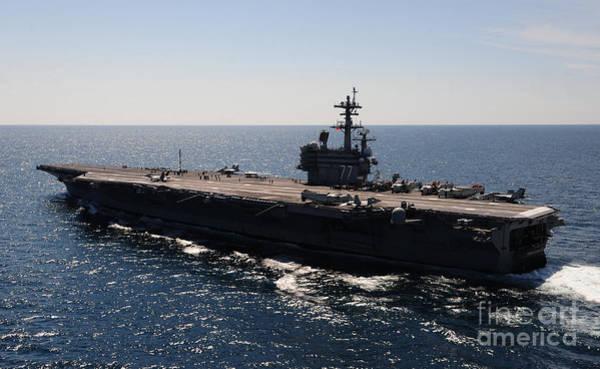 Uss George H W Bush Wall Art - Photograph - aircraft carrier USS George H W  Bush by R Muirhead Art