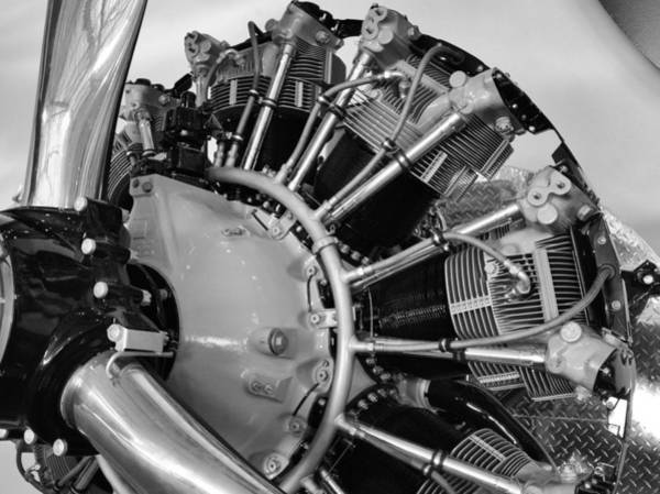 Photograph - Aircraft Engine by Ludwig Keck