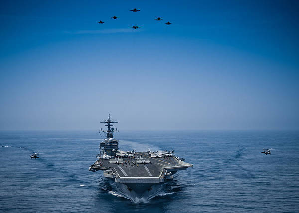 Fighter Jets Photograph - Aircraft From Carrier Air Wing by Celestial Images