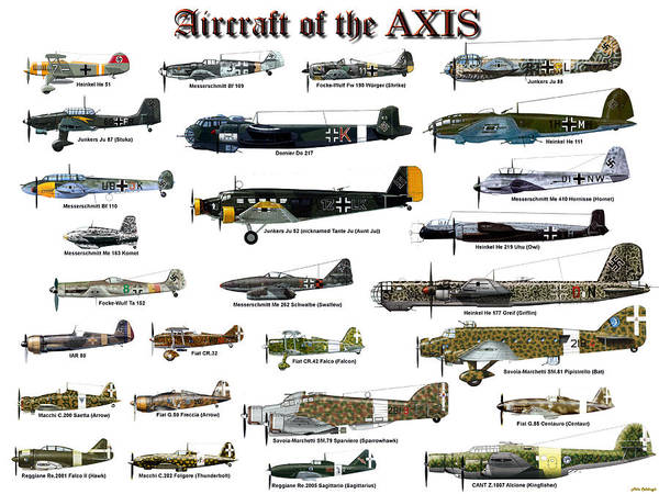Junkers Digital Art - Aircraft Of The Axis by Mil Merchant