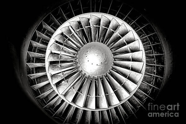 Wall Art - Photograph - Aircraft Turbofan Engine by Olivier Le Queinec