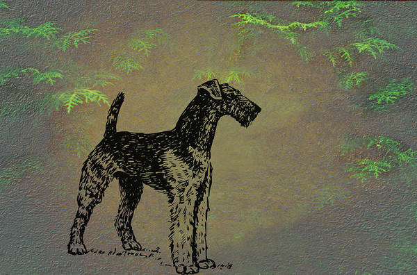 Mixed Media - Airedale Terrier by Movie Poster Prints