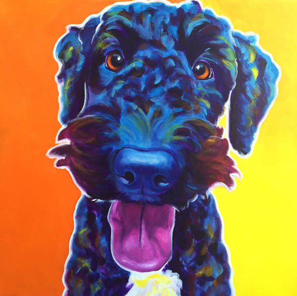 Wall Art - Painting - Airedoodle - Fletcher by Alicia VanNoy Call