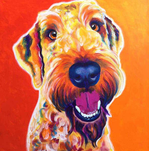 Wall Art - Painting - Airedoodle - Hank by Alicia VanNoy Call