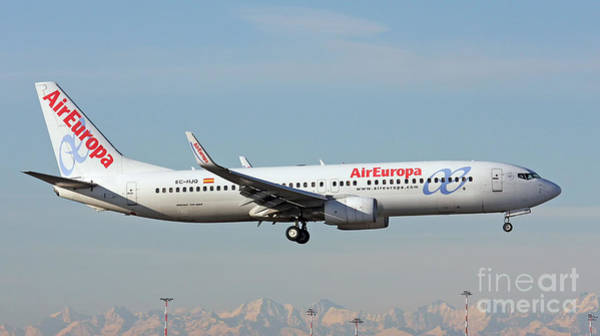 Photograph - Aireuropa - Boeing 737-800 - Ec-hjq  by Amos Dor