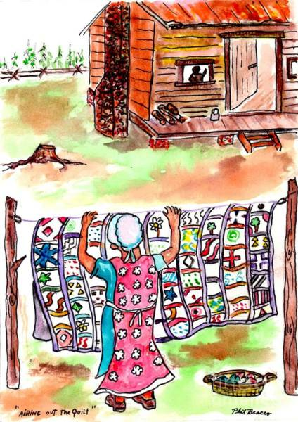 Mixed Media - Airing Out The Quilt by Philip Bracco