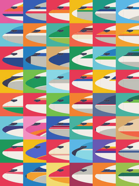 Spring Wall Art - Digital Art - Airline Livery - Small Grid by Ivan Krpan