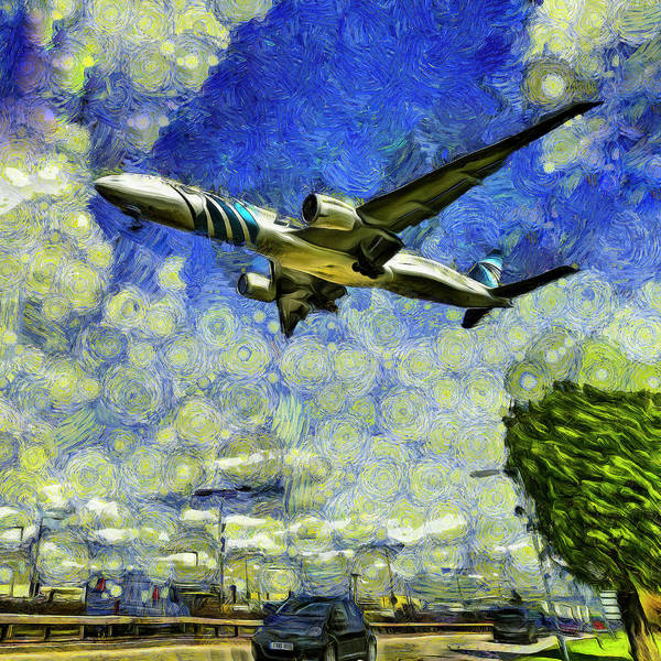 Wall Art - Photograph - Airliner Vincent Van Gogh by David Pyatt