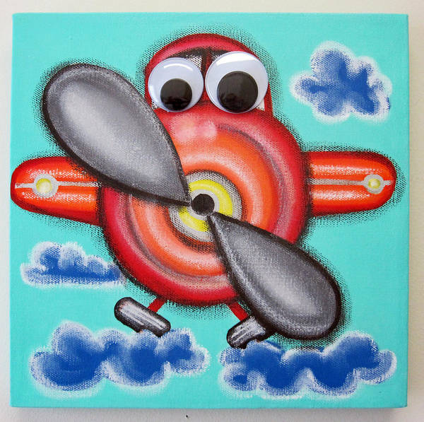 Morea Wall Art - Painting - Airplane by Mara Morea
