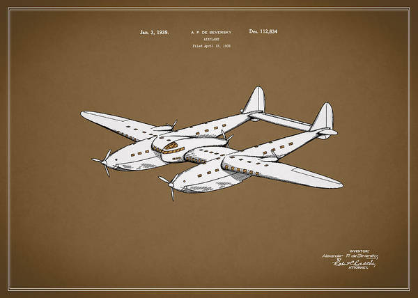 Wall Art - Photograph - Airplane Patent 1939 by Mark Rogan