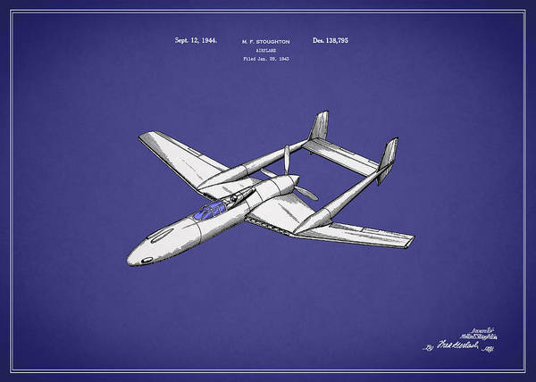 Wall Art - Photograph - Airplane Patent 1944 by Mark Rogan