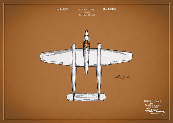 Wall Art - Photograph - Airplane Patent 1946 by Mark Rogan