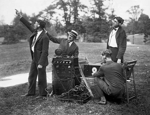 1924 Photograph - Airplane Radio Broadcast Test by Underwood Archives