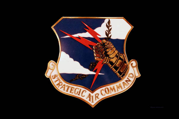 Wall Art - Mixed Media - Airplanes Military Strategic Air Command Decal by Thomas Woolworth