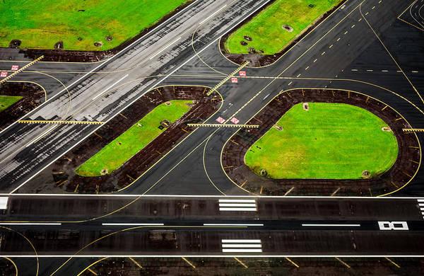 Photograph - Airport Runway by M G Whittingham