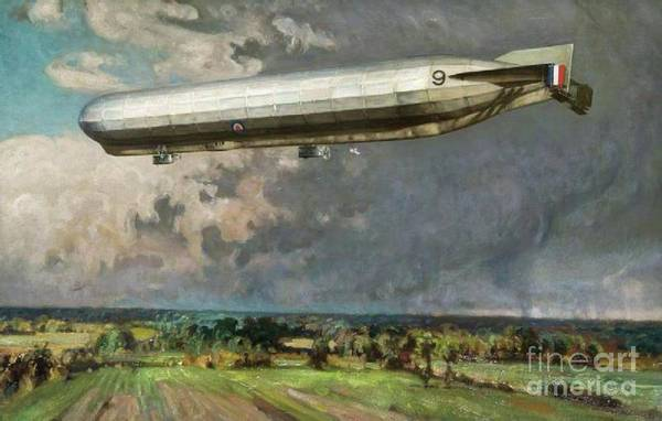 Dday Wall Art - Painting - Airship 9 by Alfred Egerton Cooper