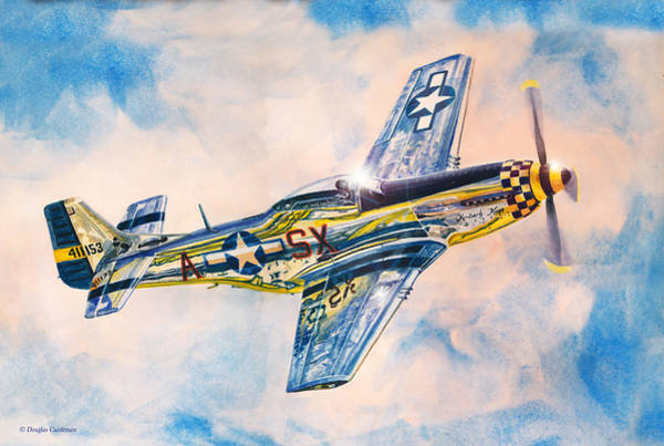 Painting - Airshow Mustang by Douglas Castleman
